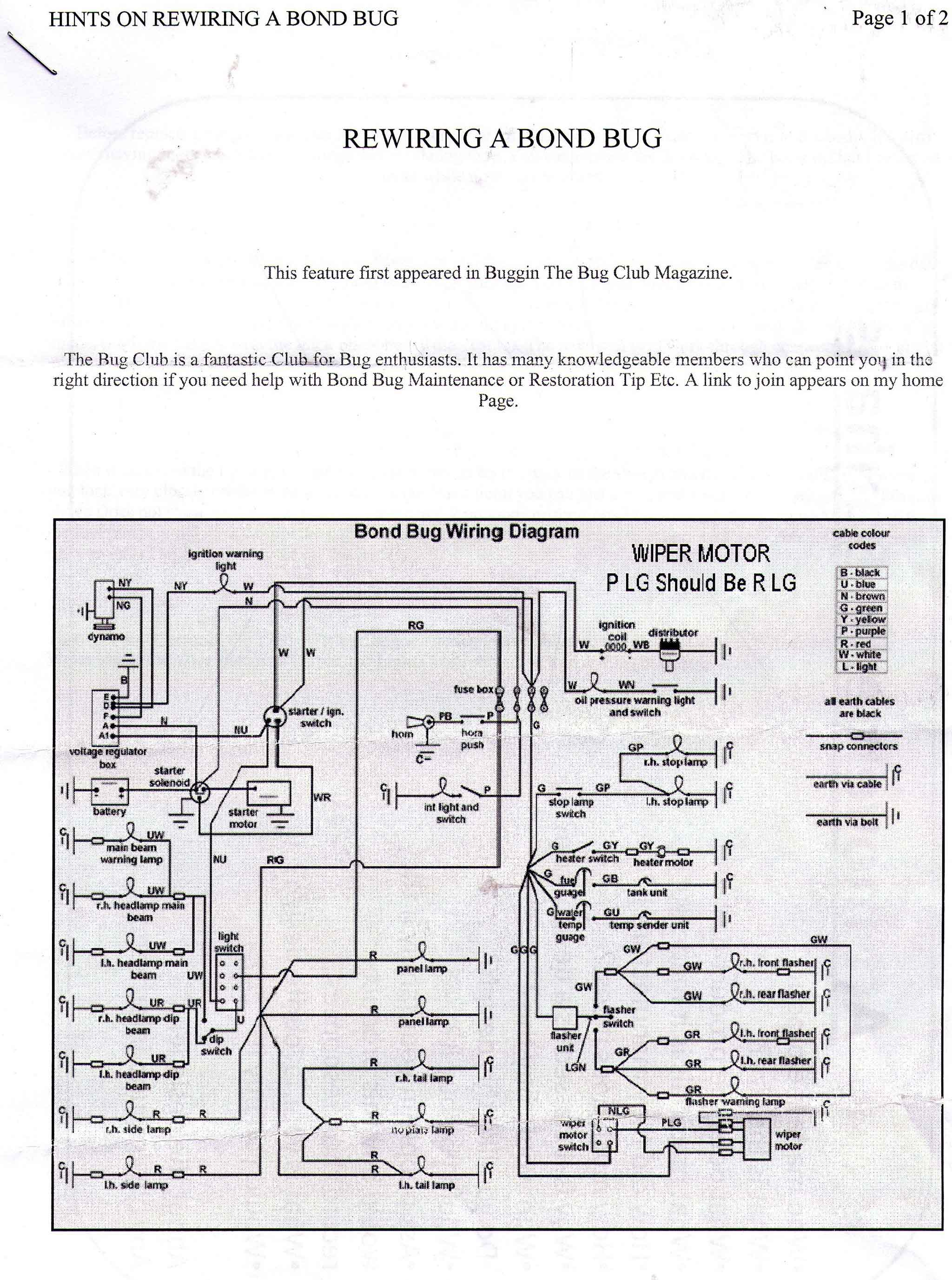 Reliant Spares Wiring Diagrams The Trike Shop Diagram