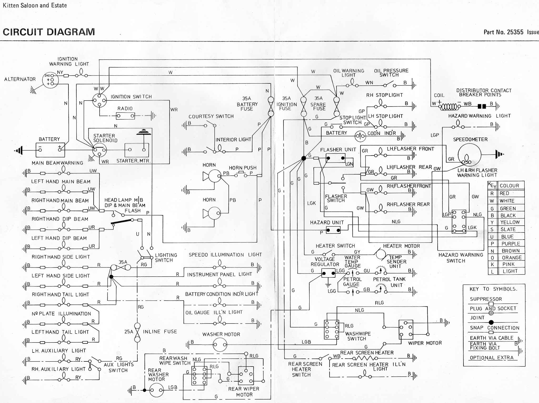 Van Wiring Diagram Detailed Schematic Diagrams Renault Master Reliant Spares Conversion Fox