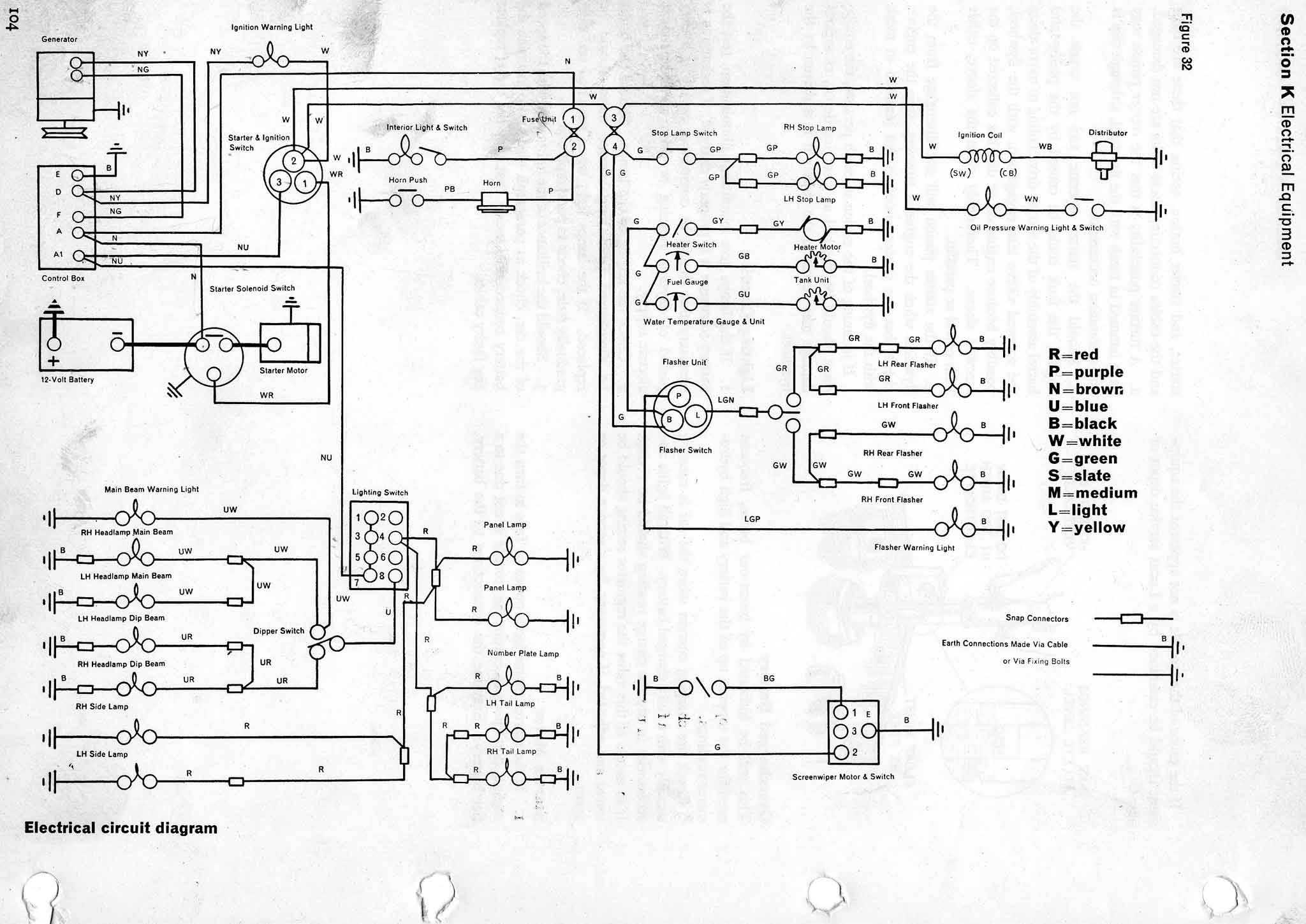 reliant spares wiring diagrams rh reliantspares com show wiring diagram 1958 cj5 show wiring diagram of bauer b236b oven