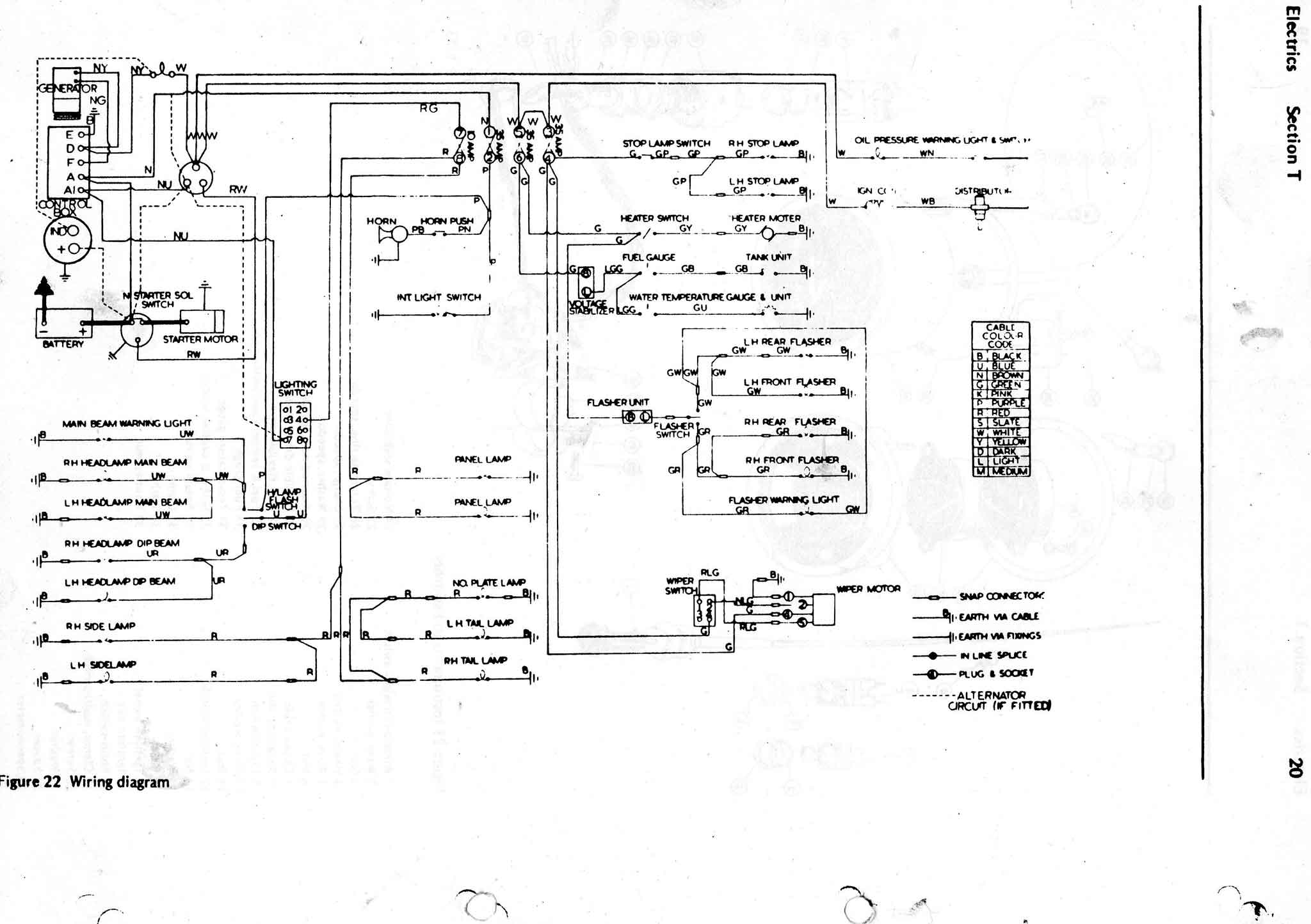 Reliant Spares Wiring Diagrams 4g Alternator Diagram Rebel