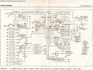 Reliant Robin 850 and super Robin 850 saloon and van wiring diagram_sm